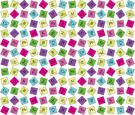 Topsy Turvey Periodic (Dark) fabric by robyriker on Spoonflower - custom fabric
