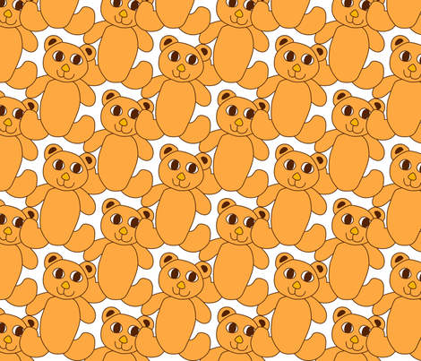 Teddybears fabric by summerchild1973 on Spoonflower - custom fabric