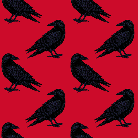 Red Ravin'  fabric by keweenawchris on Spoonflower - custom fabric