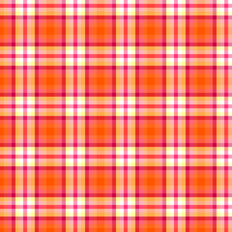 Fall'n For Pink! - Orange Plaid - © PinkSodaPop 4ComputerHeaven.com fabric by pinksodapop on Spoonflower - custom fabric
