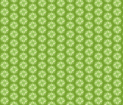 green leaf mandala fabric by dnbmama on Spoonflower - custom fabric