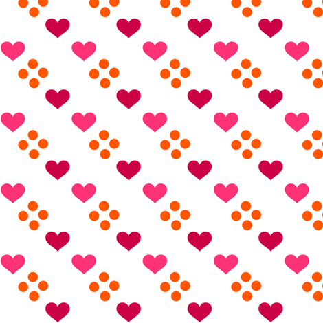Fall'n For Pink! - Hearts & Dots - © PinkSodaPop 4ComputerHeaven.com fabric by pinksodapop on Spoonflower - custom fabric