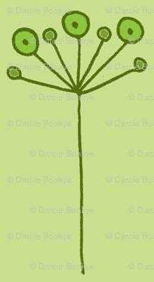 pop flower green