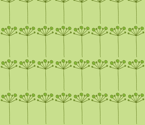 pop flower green fabric by dnbmama on Spoonflower - custom fabric