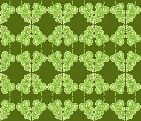 mirrored poufy leaf fabric by dnbmama on Spoonflower - custom fabric