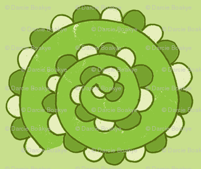 swirly snake greens