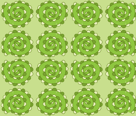 swirly snake greens fabric by dnbmama on Spoonflower - custom fabric