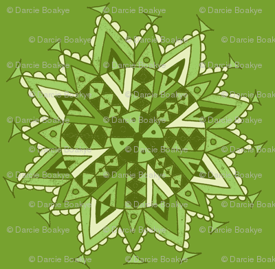 mandala star green