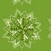 mandala star green