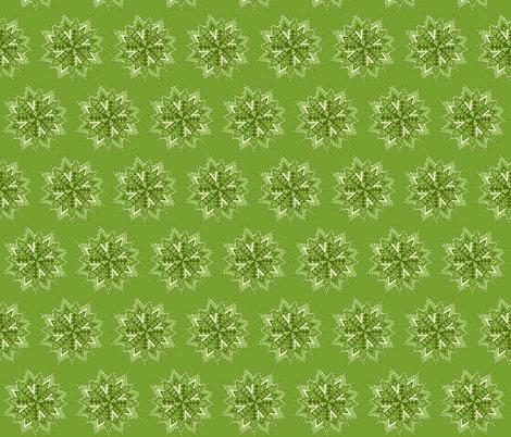mandala star green fabric by dnbmama on Spoonflower - custom fabric