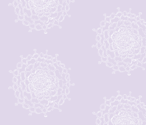 Lavender Chrysanthemum fabric by penina on Spoonflower - custom fabric