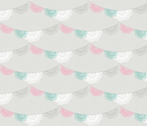 doilies bunting fabric by katarina on Spoonflower - custom fabric