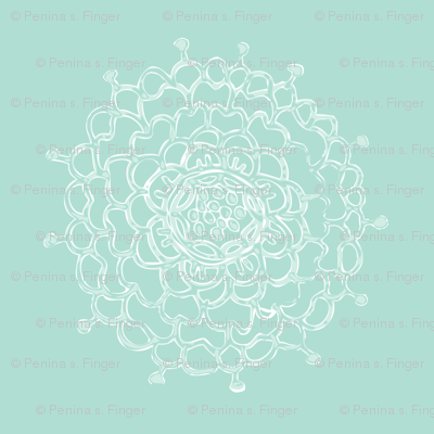 Seaglass Chrysanthemum II