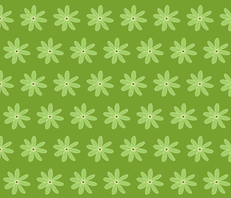 green daisy fabric by dnbmama on Spoonflower - custom fabric