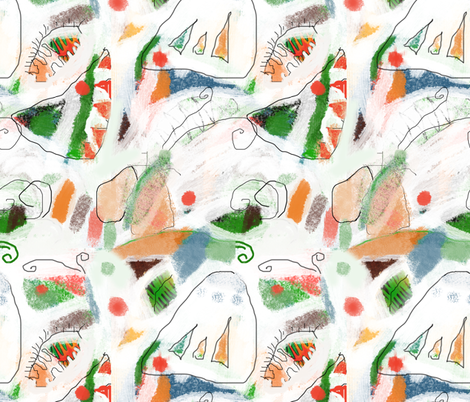 Butterflies fabric by feltnlove_ on Spoonflower - custom fabric