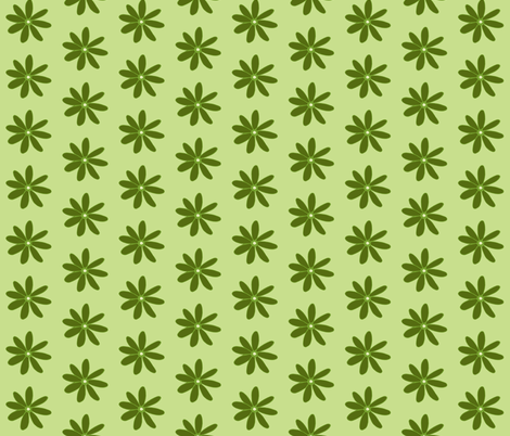 daisy light fabric by dnbmama on Spoonflower - custom fabric