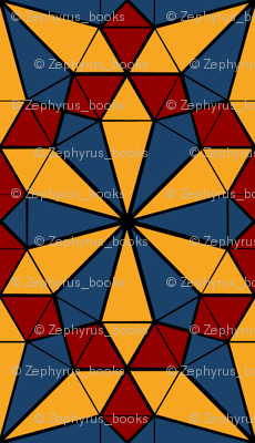 Colorful Tessellated Pointed Wheel - Yellow, Blue, Red