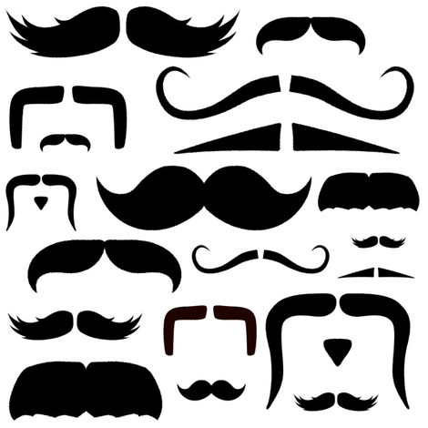 mustache love fabric by bridgethofer on Spoonflower - custom fabric