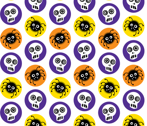 Halloween Spiders fabric by andibird on Spoonflower - custom fabric