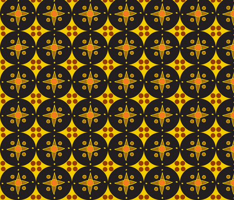 black geo star earth fabric by dnbmama on Spoonflower - custom fabric