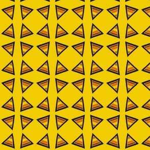 earthy triangles yellow