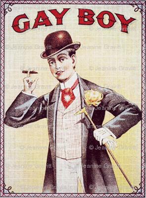 """Vintage """"Gay Boy"""" Cigarette ad"""