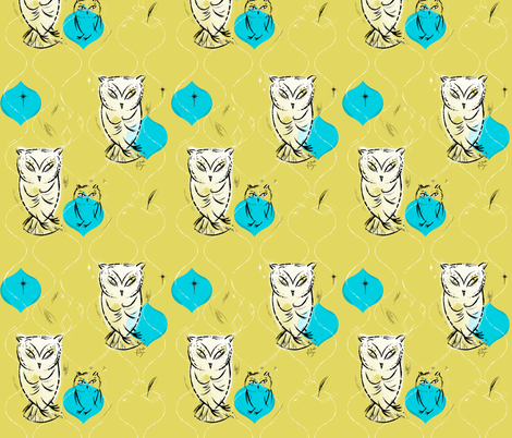 Owls fabric by sandie_tee on Spoonflower - custom fabric