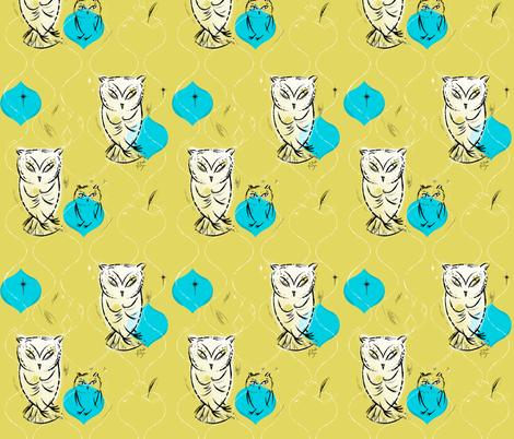 Owls fabric by sandie_tee on Spoonflower - custom fabric