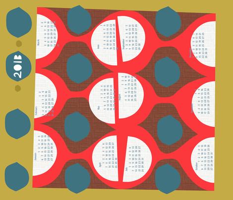 2013 retro calendar fabric by ottomanbrim on Spoonflower - custom fabric