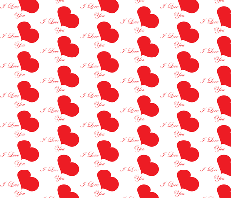 I Love You fabric by lisulle on Spoonflower - custom fabric