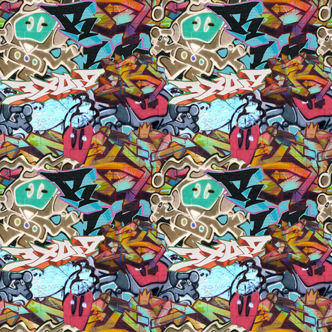 Graffiti fabric by britleymorgan on Spoonflower - custom fabric