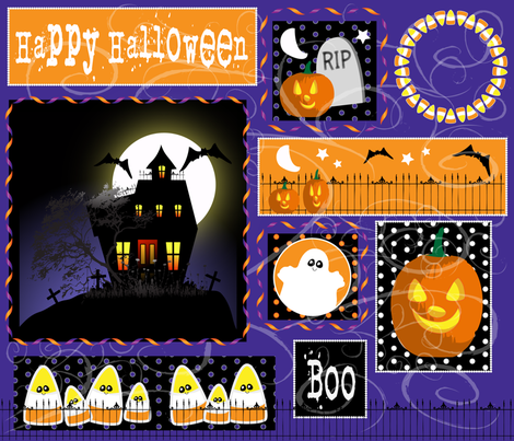 Halloween fabric by bbsforbabies on Spoonflower - custom fabric