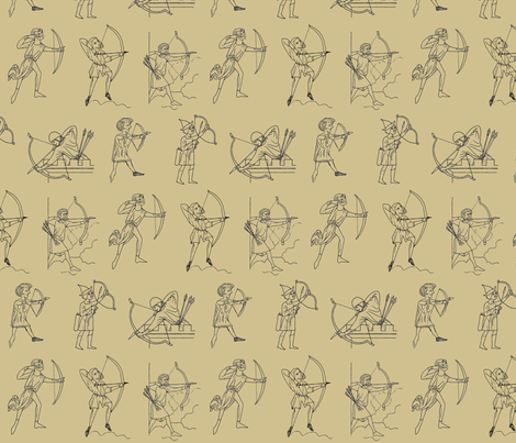 Medieval Archers fabric by rengal on Spoonflower - custom fabric