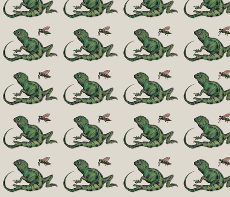 Gecko fabric by pennye on Spoonflower - custom fabric