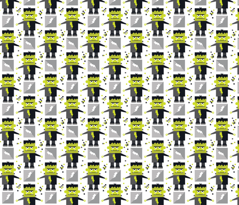 FrankenBot fabric by kate_legge on Spoonflower - custom fabric
