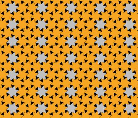 Yellow and Silver Stars on Black Background 2
