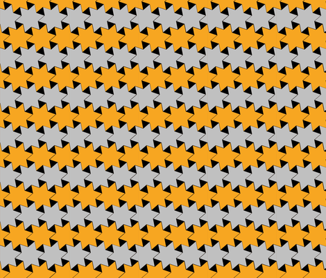 Yellow and Silver Stars on Black Background 3 fabric by zephyrus_books on Spoonflower - custom fabric