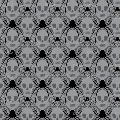 Spider Skull Damask