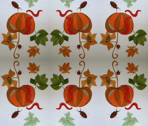 pumpkinandcrawlers fabric by artbox on Spoonflower - custom fabric