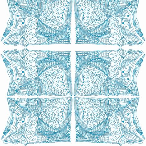 Blue Fishtale fabric by akua on Spoonflower - custom fabric