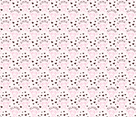 Happy Hearts Girls fabric by olumna on Spoonflower - custom fabric