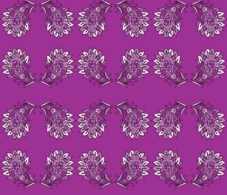 flori paisley purple dark