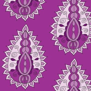 purple paisley teardrop