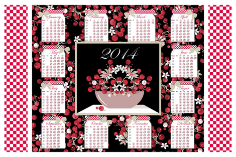 Calendar_2014 Fruit  fabric by alfabesi on Spoonflower - custom fabric
