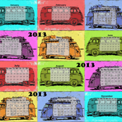 Hippie Camper Calendar 2013