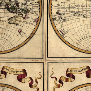 Template - 1720 World Map by Delisle - Centered