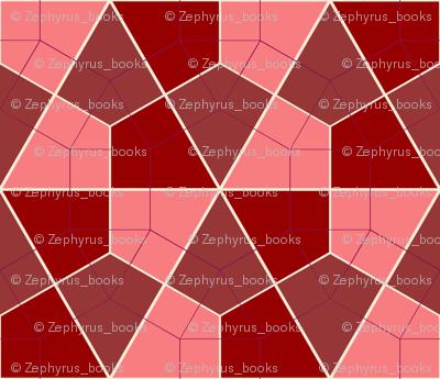 Colorful Tessellated Hexagonal Wheel - Pink, Purple, Red