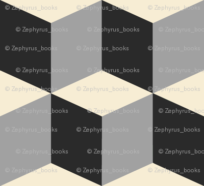 Colorful Tessellated Squares - White Grey Black