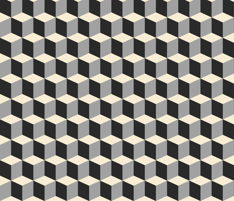 Colorful Tessellated Squares - White Grey Black fabric by zephyrus_books on Spoonflower - custom fabric
