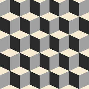 Colorful Tessellated Squares - Brown Grey Black